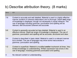 b) Describe attribution theory. (8 marks)