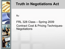 Truth in Negotiations (TINA)