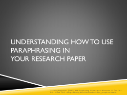 Understanding How to Use Paraphrasing in Your