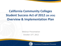 Fall 2012 - California Community Colleges System
