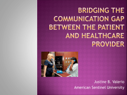 Bridging the Communication Gap between the Patient