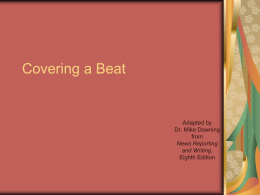 Chapter 14: Covering a Beat
