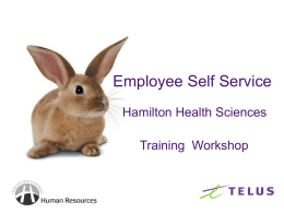 Comm Update - TELUS Sourcing Solutions