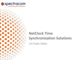 NetClock Training - GNSS Signal Management -
