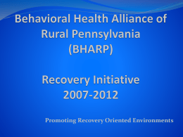 Behavioral Health Alliance of Rural Pennsylvania