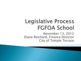 Legislative Session Hillsborough FGFOA
