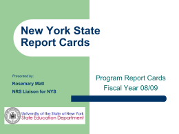 New York State Assessment Rubric