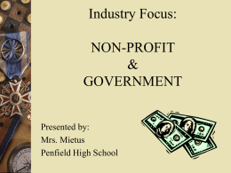 Industry Focus: NON-PROFIT & GOVERNMENT