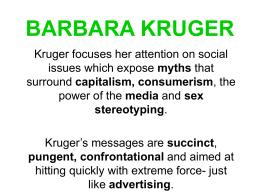 BARBARA KRUGER - Janessa Friesen