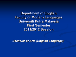 Centre for External Education Universiti Putra
