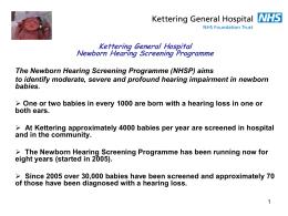 Kettering General Hospital Newborn Hearing