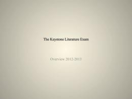 The Keystone Literature Exam