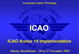Aerodrome Safety Workshop