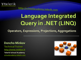 LINQ and LINQ-to-SQL