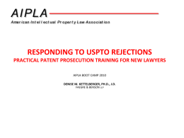 RESPONDING TO USPTO REJECTIONS PRACTICAL PATENT