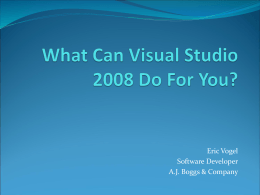 What Can Visual Studio 2008 Do For You?