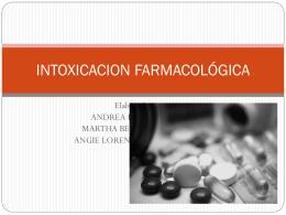 INTOXICACION FARMACOLÓGICA