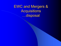 EWC and Merger