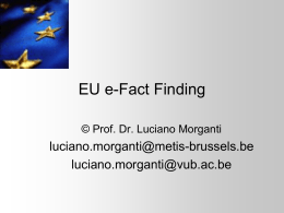 EU e-Fact Finding