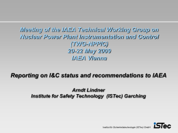 IAEA Workshop on the Impact of Digital I&C