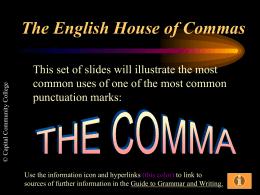 Grammar Blitz COMMAS!