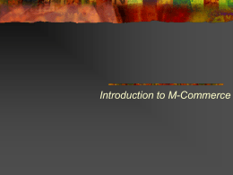 Introduction to M-Commerce