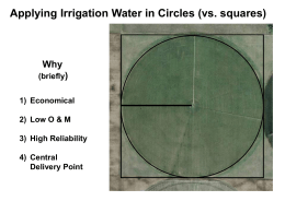 Center Pivot Irrigation System Design