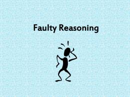 Fallacious Reasoning