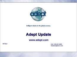 Adept Overview - BG Automation