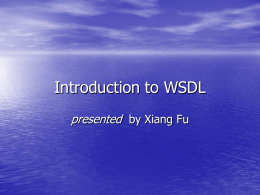 Introduction to WSDL - UCSB Computer Science