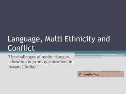 Language, Conflict and Primary Education