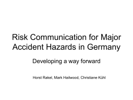 Risk Communication for Major Accident Hazards in
