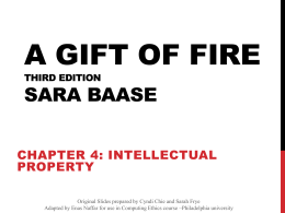 Gift of Fire - Philadelphia University