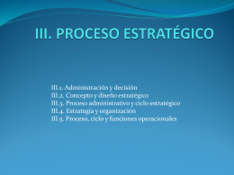 III. PROCESO ESTRATÉGICO
