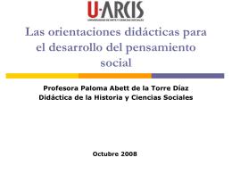Las orientaciones didácticas para el desarrollo