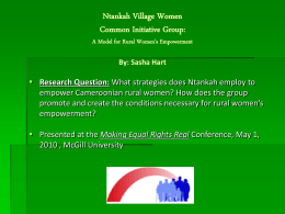 Ntankah Village Women Common Initiative Group: A
