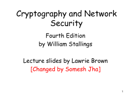 William Stallings, Cryptography and Network