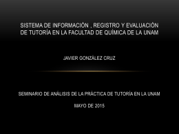 AJUSTES A LAS TUTORÍAS EN EL SEMESTRE 2012-1