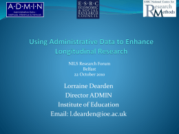 New longitudinal admin data