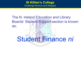Student Finance Arrangements 2007 / 08