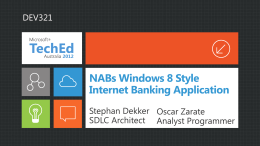 NABs Windows 8 Style Internet Banking Application