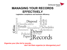 Records Management Workshop presentation