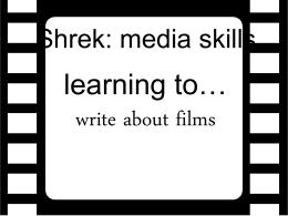 Shrek: media skills - Home