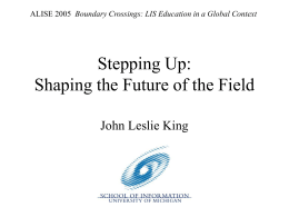 Stepping Up: Shaping the Future of the Field