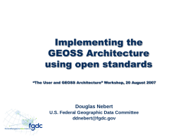 Implementing the GEOSS Architecture using open