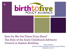 What Should a Comprehensive Early Childhood System