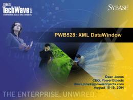 XML Web DataWindow