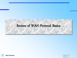 WAN Fundamentals Module
