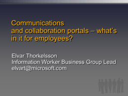 Unified Communication and Collaboration deck