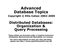 CS 579 Database Systems